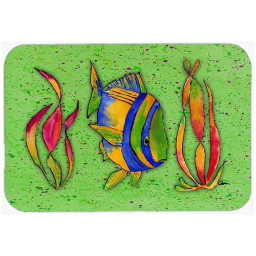 Caroline S Treasures Tropical Fish Glass Cutting Board Walmart Com Walmart Com