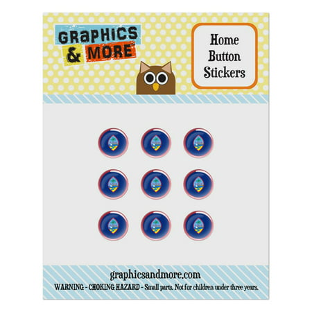 Guam National Country Flag Home Button Stickers Set Fit Apple iPhone iPad iPod