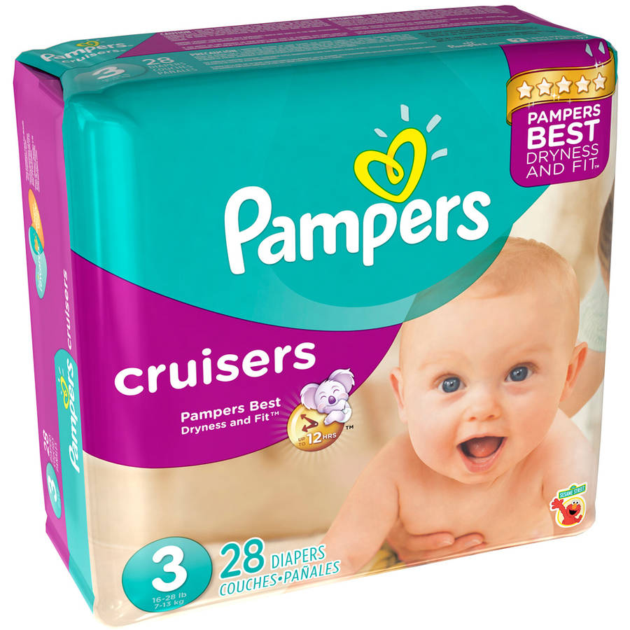 Pampers Cruisers Diapers, Jumbo Pack, (Choose Your Size)