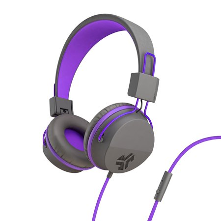 JLab Audio JBuddies Studio Volume Safe, Folding, Over-ear Kids Headphones with Mic - Graphite/Purple