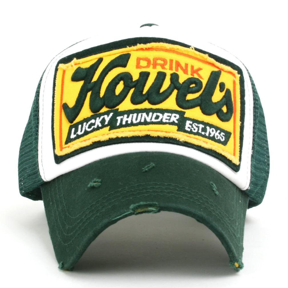 ililily Howels Distressed Vintage Embroidery Baseball Cap Snapback Trucker  Hat  1789711187e