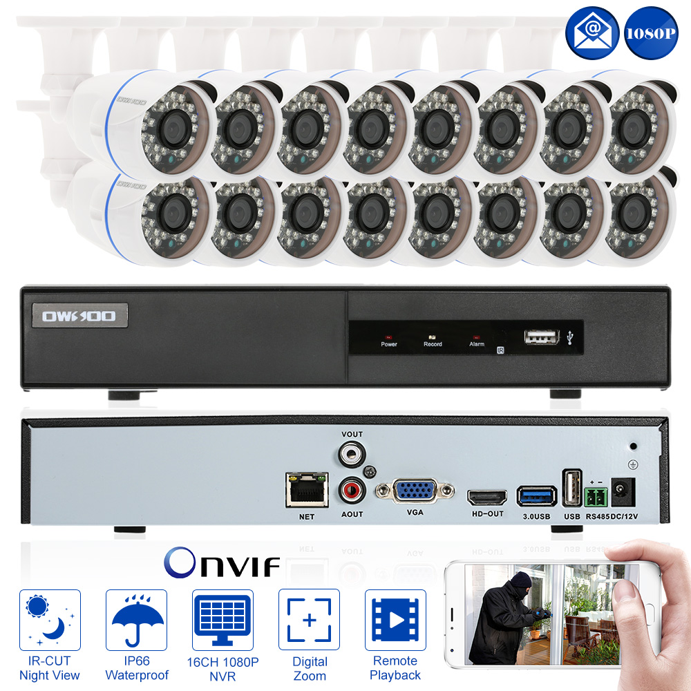 OWSOO 16-Channel Full 1080P NVR Network Video Recorder CC...