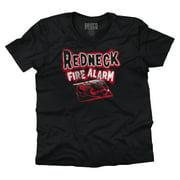 Red-Neck Fire Alarm Funny Shirt   Down South Cowboy Rancher V-Neck T-Shirt