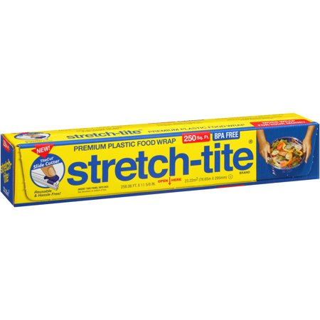 Stretch Tite Premium Food Wrap With Titecut Slide Cutter  12  X 250   250 Sq Ft