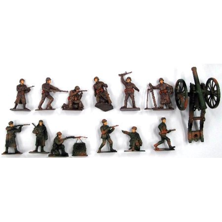 Wwii German Infantry Weapons - 1/32 WWII Russian Infantry Figure Playset (12 w/Weapons & Cannon) (Bagged)