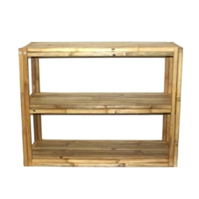 Bamboo 71 5853 3 Tier Square Bamboo, Rectangular Shelf
