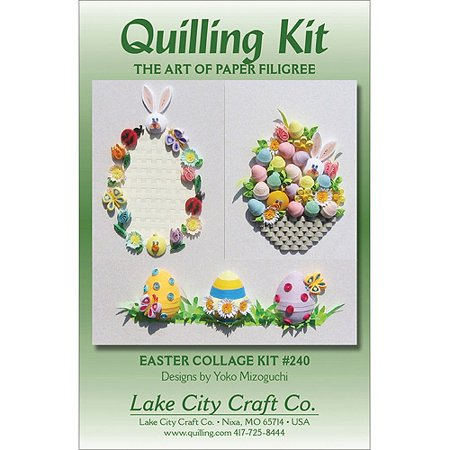 Lake City Craft Co  Quilling Kit  Easter Collage
