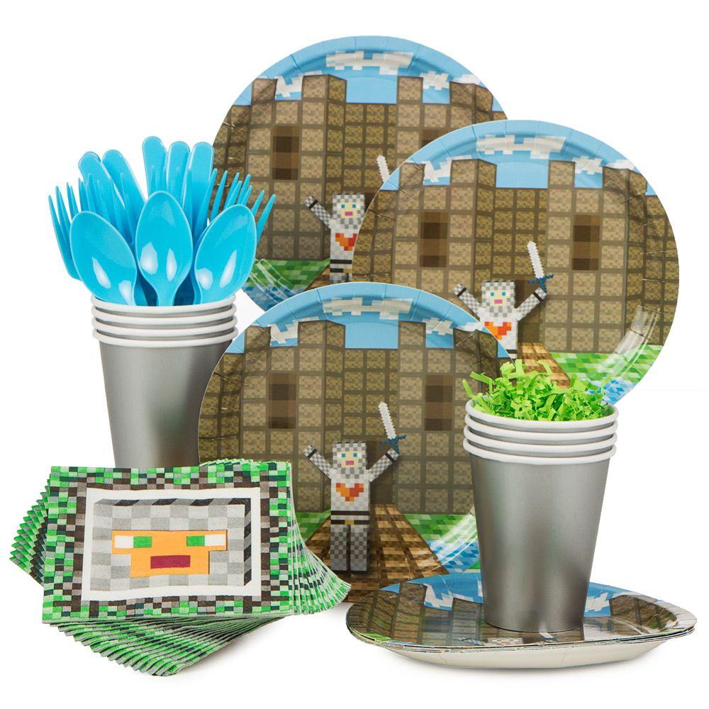 Minecraft Inspired Medieval Standard Kit Serves 8 Party