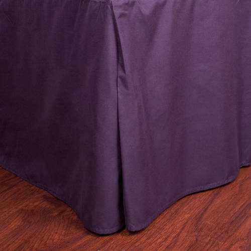 "Microfiber 1500 Egyptian Quality Pleated Bedskirt with 14"" Drop by Generic"