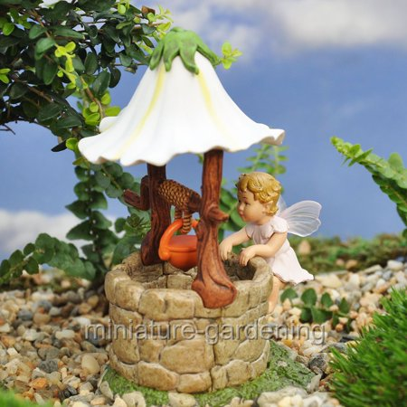 Miniature Baby Apple Blossom Flower Fairy for Miniature Garden, Fairy (Fairy Apple)
