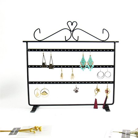 72 Holes Jewelry Display Rack Organizer Holder Earrings Metal Stand Necklace Holder Jewelry Tree - Store Fixtures & Equipment/Jewelry Displays/Earring Holders ()