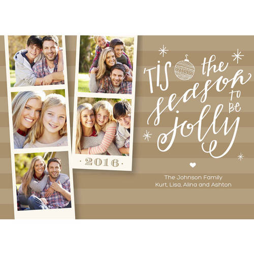 Happy New Year Photo Strips Standard Holiday Card