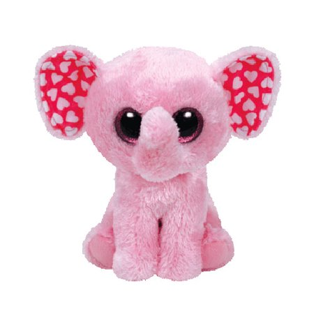 Ty Valentine Sugar the Pink Elephant (Regular) Plush - Valentine Animals