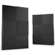 Siless 24 pack 12x12x1 inches Acoustic Panels Acoustic Foam Panels Soundproof Studio foam Sound Dampening noise Sound Deadening foam Sound Panels wedges Sound Proof Sound Insulation Absorbing