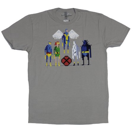 ed49378d X-Men - X-Men (Marvel Comics) Mens T-Shirt - Pixel Styled Original X-Men  Lineup Group (XXX-Large) - Walmart.com