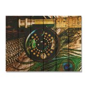 Day Dream HQ FR2216 22 x 16 in. Fly Reel Inside & Outside Cedar Wall Art
