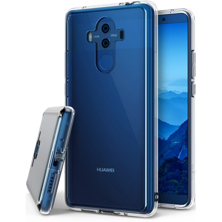 Huawei Mate 10 Pro Phone Case Ringke [FUSION] Crystal Clear Minimalist Transparent PC Back TPU Bumper [Drop Protection] Scratch Resistant Natural Shape Protective Cover for Huawei Mate10 Pro - Clear