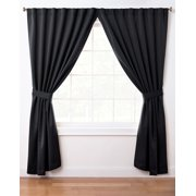eLuxurySupply - Back-Tab Thermal Insulated Blackout Window Dorm Curtain