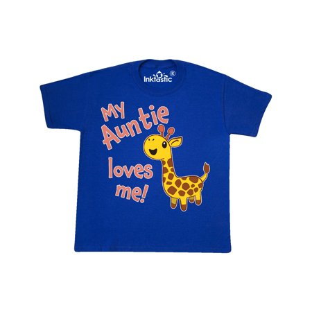 My Auntie Loves me- cute giraffe Youth T-Shirt
