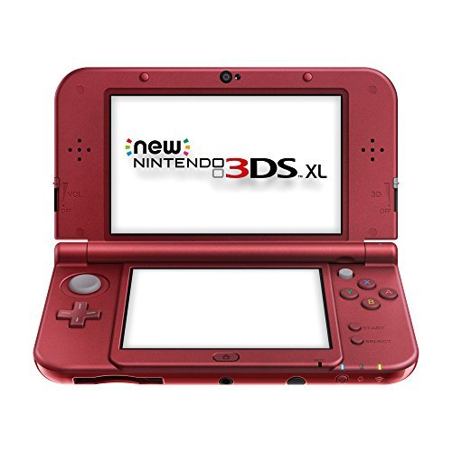 Refurbished Nintendo New 3DS XL Red Handheld Gaming with SD Card Stylus and Charger