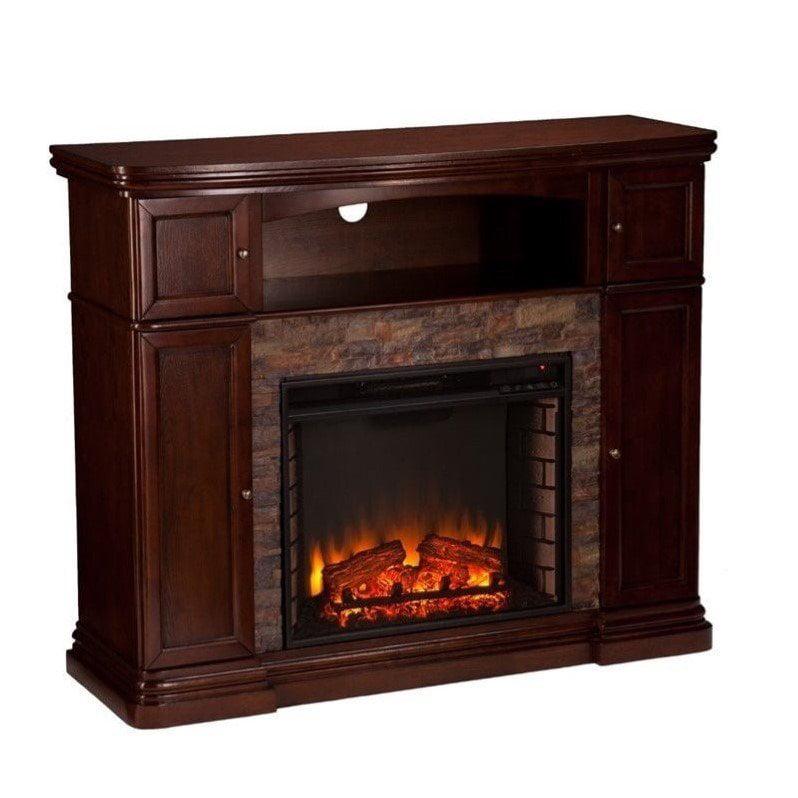 Southern Enterprises Hillcrest Electric Media Fireplace in Espresso