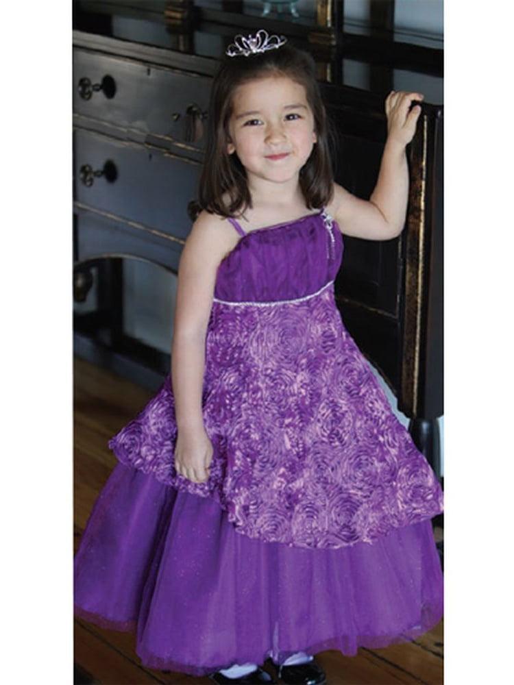 Angels Garment Little Girls Purple Size 5 Ribbon Pageant Dress