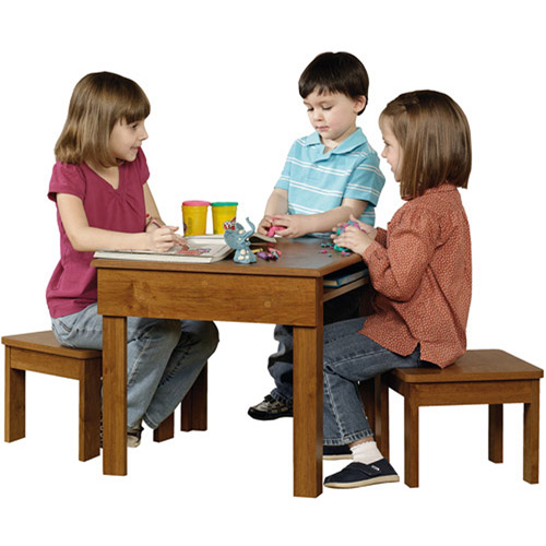Sauder Beginnings Kids Table and Stool Set, Multiple Finishes