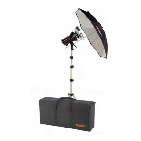 Photogenic StudioMax III AC Traveling Hair Light Boom Arm Kit, with 1 AKC 320 Constant-Color Monolight, 1 Umbrella, 1 Stand & 1 Case. (AKC35K)