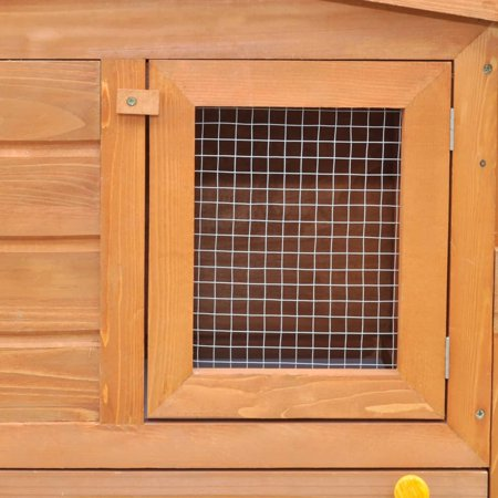 Large Rabbit Hutch Small Animal House Pet Cage with 2 Runs