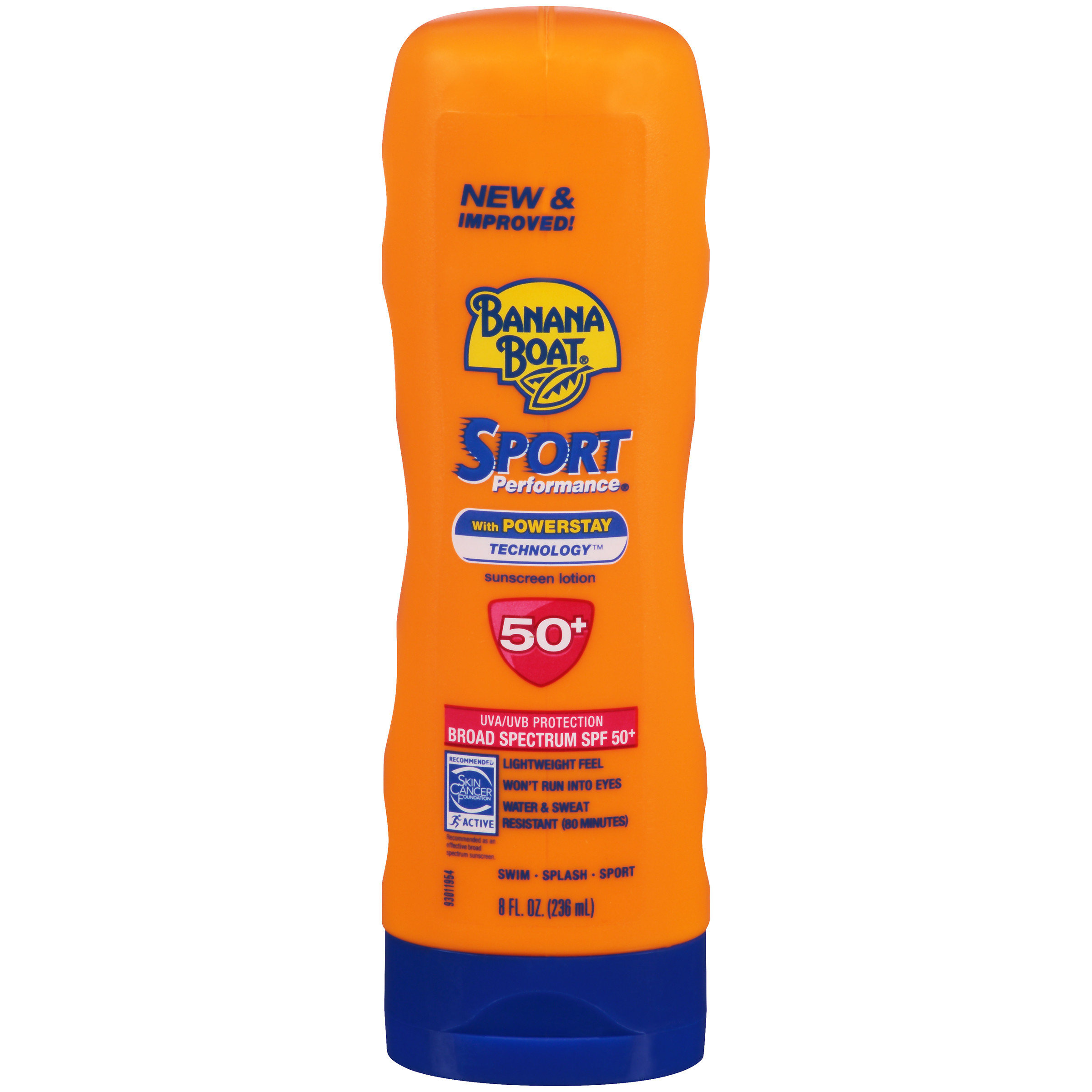 Banana Boat Sport Performance Lotion Sunscreen Broad Spectrum SPF 50 - 8 Ounces