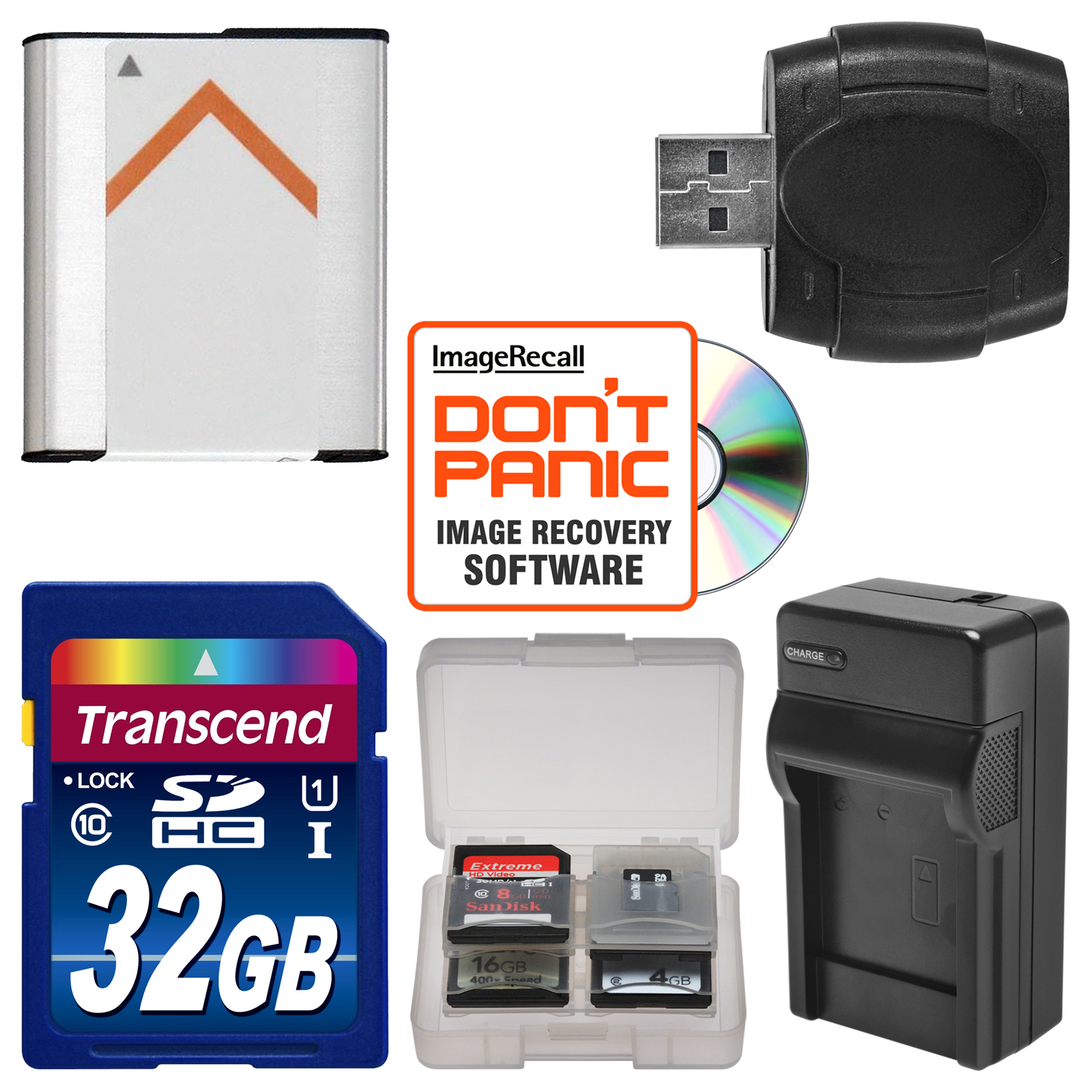 NP-BN1 Battery & Charger + 32GB SD Card Essential Bundle for Sony Cyber-Shot DSC-TF1, TX30, W710, W730, W830, WX80 Digital Camera