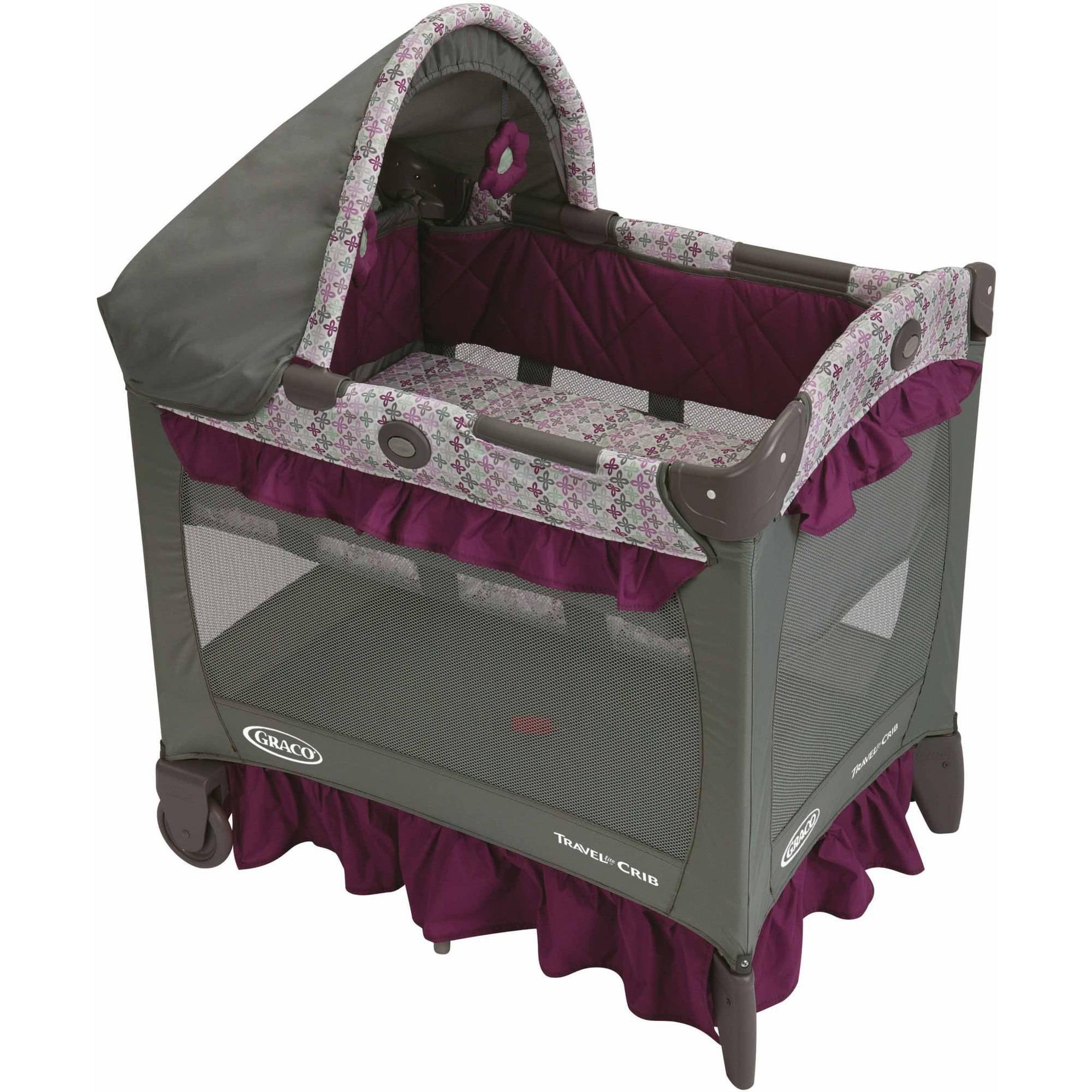 Graco Travel Lite Portable Crib Nyssa Walmart Com