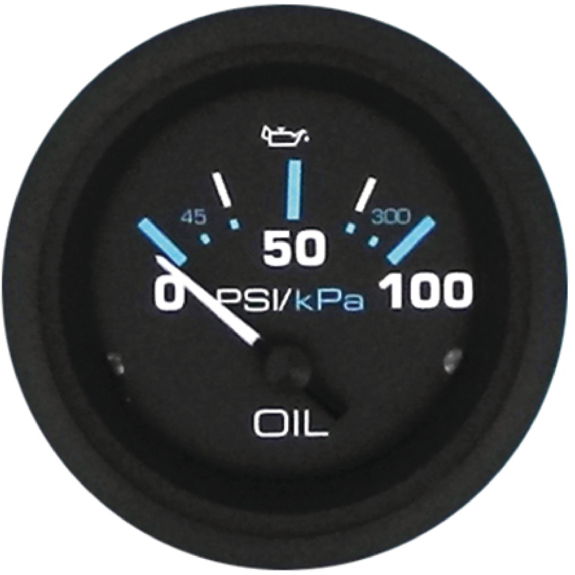 "Sierra 68393P Eclipse Series 2"" Black Engine 0-100 PSI Dial Range Oil Pressure Gauge and Requires ""C"" Sender Code"