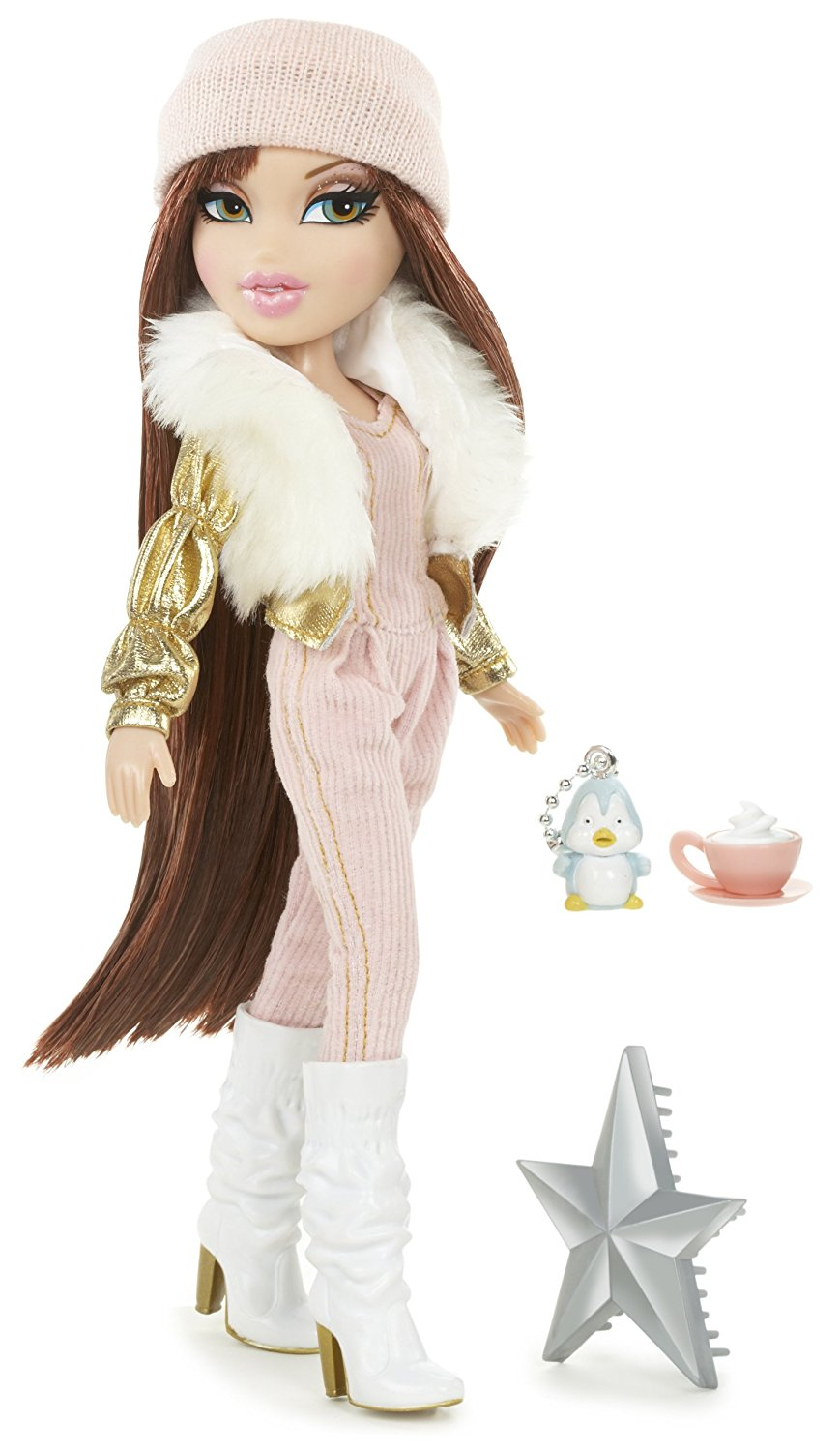 Bratz Pink Winter Dream Meygan, Fabulous, fur-embellished fashions By MGA Entertainment Ship from US by