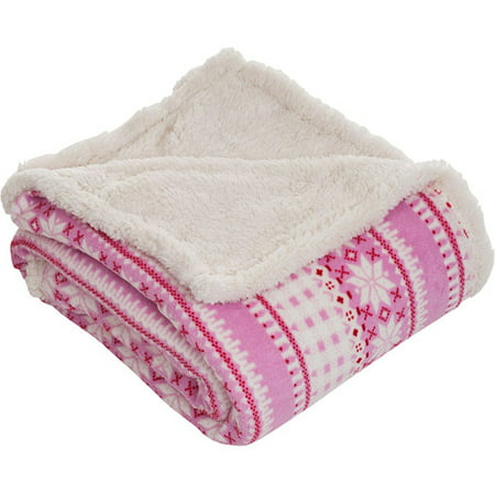 Somerset Home Throw Blanket Fleece Sherpa Walmart Com