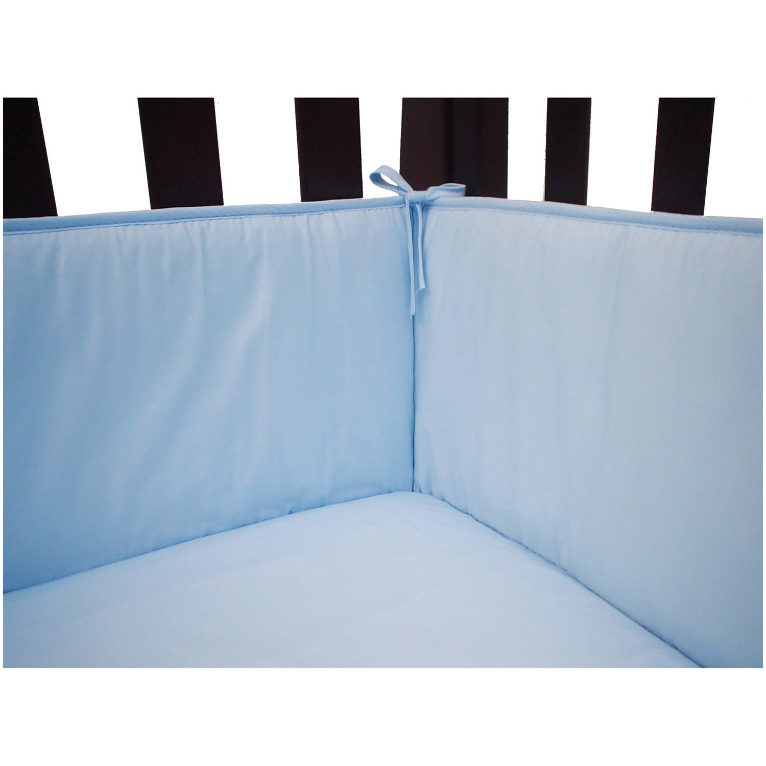 American Baby Company 100% Cotton Percale Crib Bumper, Blue