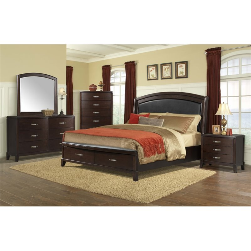 Picket House Furnishings Elaine 6 Piece King Bedroom Set in Espresso