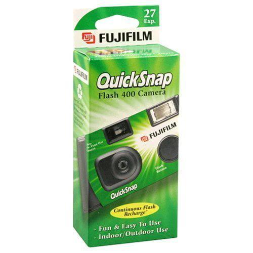 FujiFilm QuickSnap Flash 400 Disposable 35mm Camera 27 exposures by Fujifilm