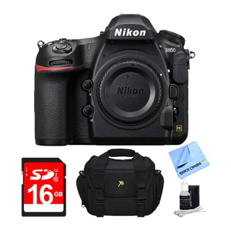 Nikon D850 45.7MP Full-Frame FX-Format Digital SLR Camera (Body Only) + 16GB Bundle