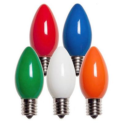 HOLIDAY BRIGHT LIGHTS 25PK Mult Incan C9 Bulb BU25-C9-OMU