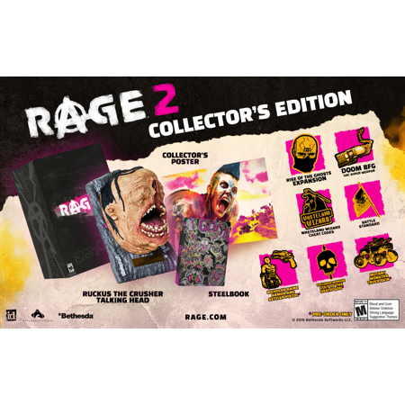 Rage 2 Collector's Edition, Bethesda, Xbox One, (Halloween 3 Collector's Edition)