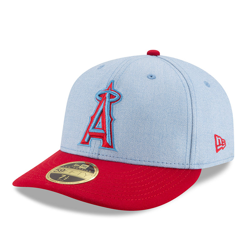 Los Angeles Angels New Era 2018 Father's Day On Field Low Profile 59FIFTY Fitted Hat - Light Blue