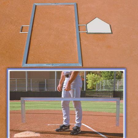 BSN Sports Foldable Baseball Batter's Box Template 4' x 6'