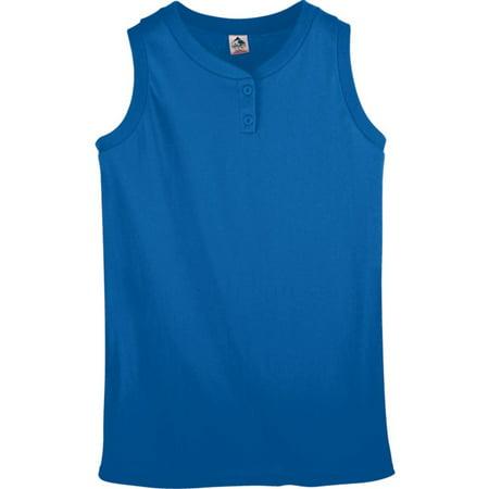 Sleeveless 2 Button Softball Jersey - Augusta Sportswear Women's Sleeveless Two Button Softball Jersey - 550