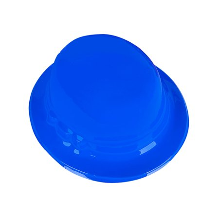 Child's Blue Plastic Gentleman's Bowler Derby Hat Costume Accessory