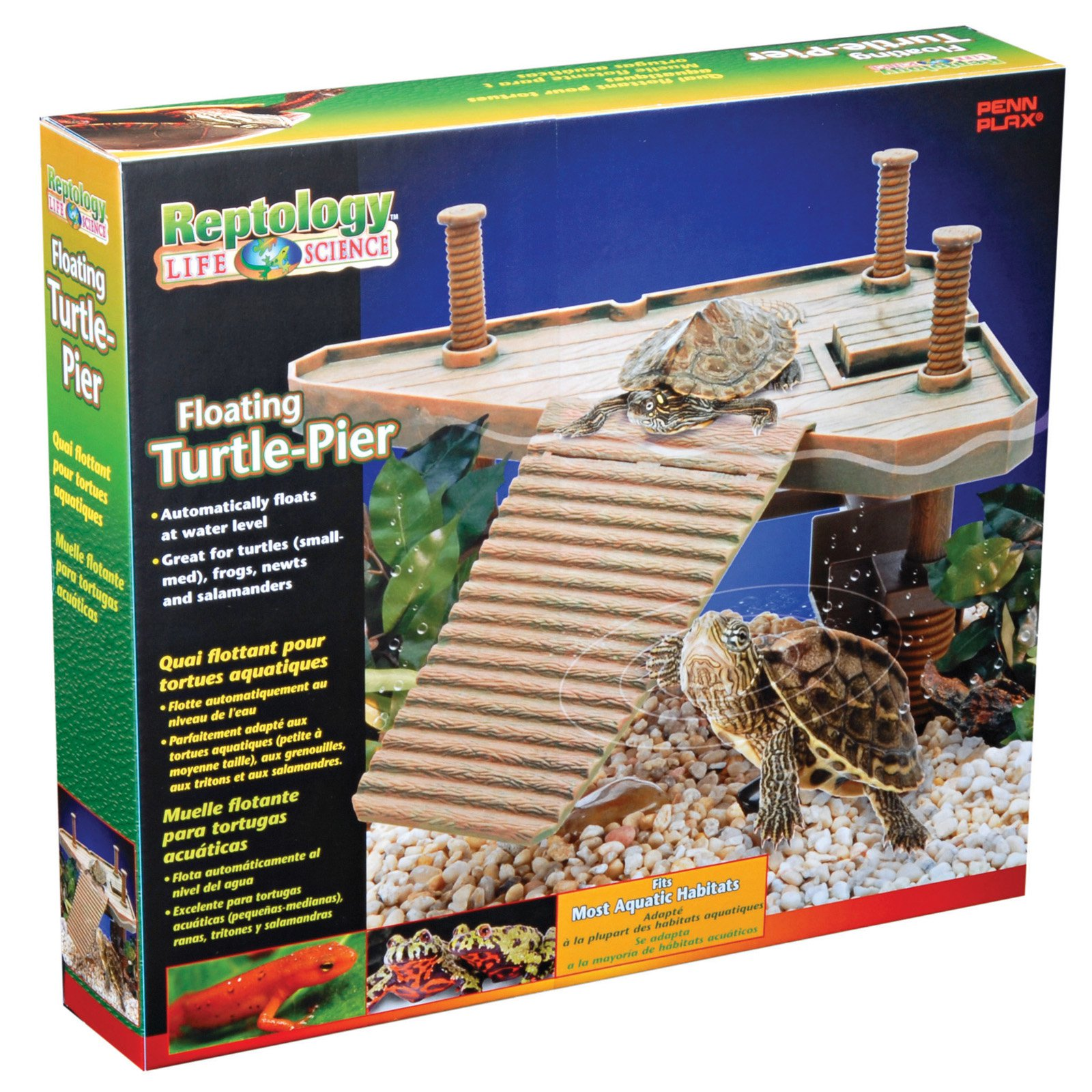 Penn Plax The Reptology Turtle Pier - Medium