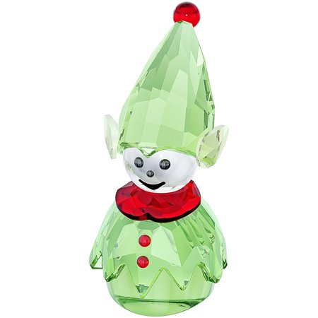 Swarovski Green Crystal Christmas Figurine SANTA'S HELPER #5059034 ()