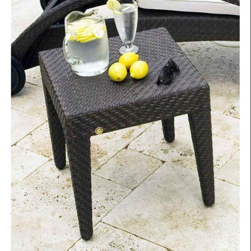 Soho Patio End Table in Rehau Fiber Java Brown Finish