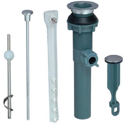 Plastic/chrome Lavatory Drain Pop-up Assembly, BrassCraft, 172-745