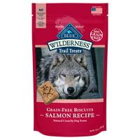 Blue Buffalo Wilderness Trail Treats Salmon Recipe Grain Free Crunchy Dog Treats Biscuits, 10-oz bag